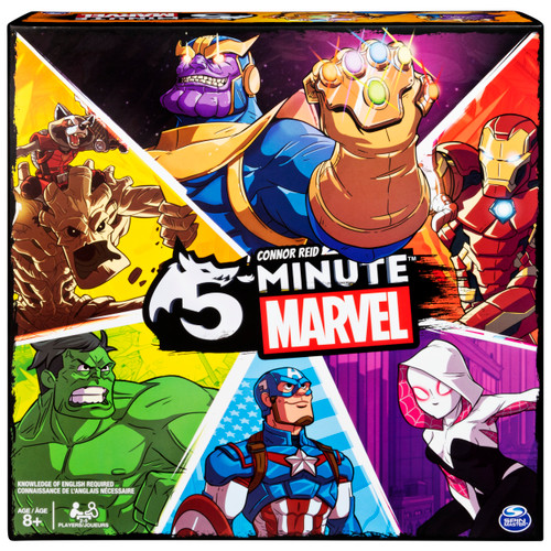5-Minute Marvel Fast-Paced Cooperative Card Game Action Cards Toy Battle Fans Kids Collectors Gift WLM8 55409