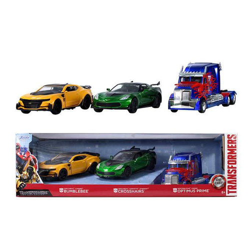 Transformers 3-pack 1:32 Die-Cast Cars Set (Bumblebee Crosshairs & Optimus Prime) Toy Kids Collectors CTS8 (32420)