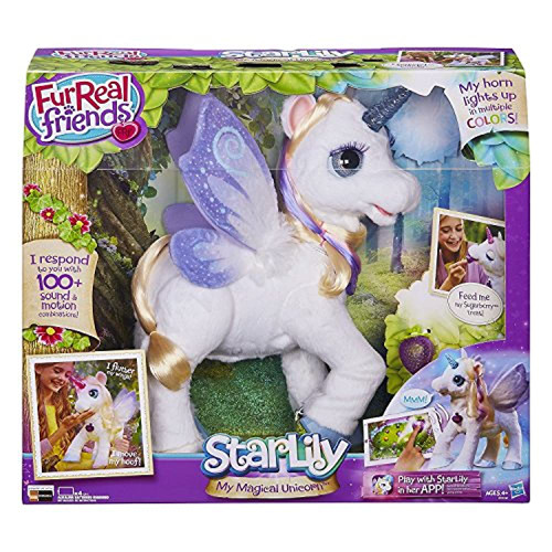FurReal Friends StarLily My Magical Unicorn Interactive Toy Plush Pet Kids Light-up Horn CST8 28844-C