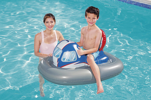 H2OGO! Galactic Hovercraft Ride-On Swimming Pool Float Kids Inflatable Toy Water Floating Summer - WLM8 (41115)