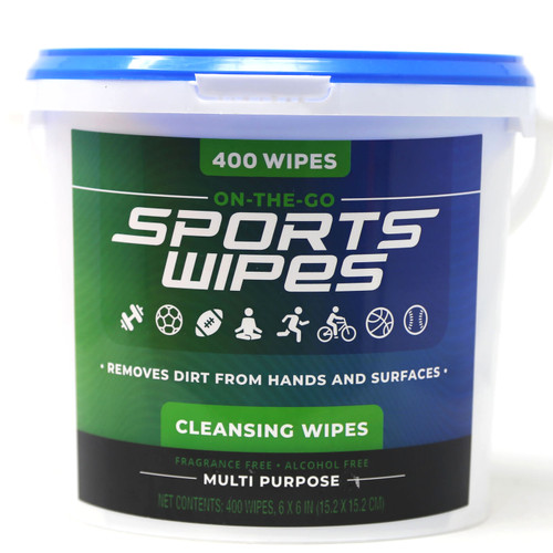 Magic Time On-The-Go 400 Sports Cleansing Wipes in a Bucket Multi-Purpose Hands Surfaces - WLM8 (91579)