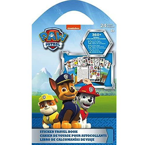 Trends Paw Patrol Sticker Book Travel and Rainy Day Activity Kids Sticker Collector - WLM8 (06359)