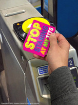 Stop Staring Tits Travel Card Wallet