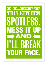 Spotless Kitchen Magnetic Notebook