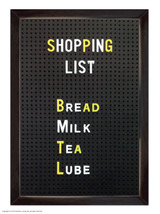 Shopping List Magnetic Notebook