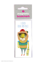Roar And Peace Magnetic Bookmark