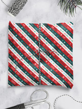 Xmas Stripe Christmas Gift Wrap