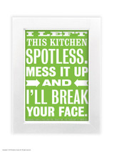 Spotless Kitchen - Quality A3 / A5 Framed Print (Choice of Black or White Frame)