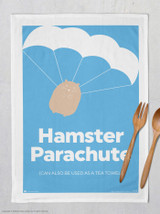 Hamster Parachute Tea Towel