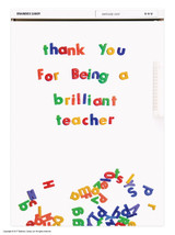 Thanks Brilliant Teacher Magnetic Notebook