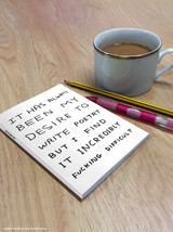 David Shrigley Write Poetry A6 Notebook / Notepad