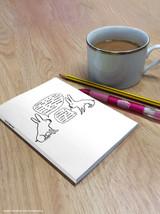 David Shrigley Live In Harmony A6 Notebook / Notepad