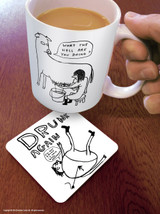 David Shrigley Drunk Again Coaster