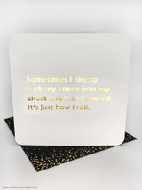 It's How I Roll (Gold Foiled) Birthday Card