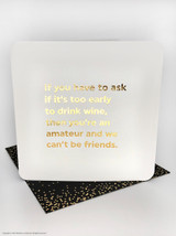 Drink Wine Early (Gold Foiled) Birthday Card