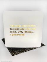 Yoga And Pilates (Gold Foiled) Birthday Card