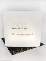 Gym Gear (Gold Foiled) Birthday Card