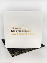 No DJ Saved Life (Gold Foiled) Birthday Card