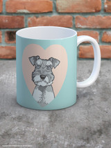 Cute Schnauzer Heart Mug - UNBOXED