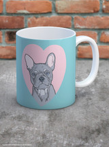 Cute French Bulldog Heart Mug - UNBOXED