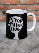 David Shrigley Stop Thinking Boxed Mug