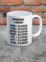 David Shrigley Opening Hours Boxed Mug