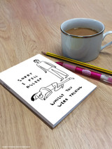 David Shrigley Sorry I Fell Asleep A6 Notebook / Notepad