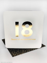18th (Gold Foiled) Birthday Age Card