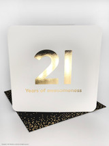 21st (Gold Foiled) Birthday Age Card