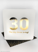 30th (Gold Foiled) Birthday Age Card
