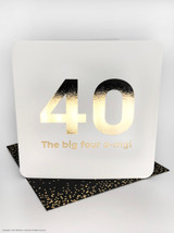 40th (Gold Foiled) Birthday Age Card