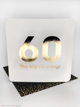 60th  (Gold Foiled) Birthday Age Card