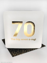 70th (Gold Foiled) Birthday Age Card