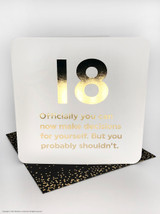 18th Birthday (Gold Foiled) Age Card