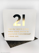 21st Birthday (Gold Foiled) Age Card