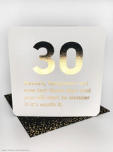 30th Birthday (Gold Foiled) Age Card