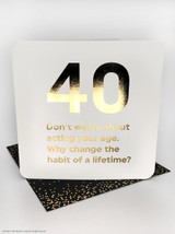 40th Birthday (Gold Foiled) Age Card