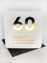 60th Birthday (Gold Foiled) Age Card