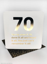70th Birthday (Gold Foiled) Age Card