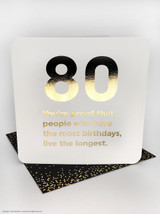 80th Birthday (Gold Foiled) Age Card
