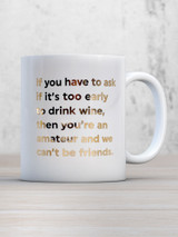 Too Early To Drink Wine Boxed Mug
