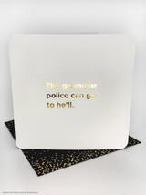 Grammar Police (Gold Foiled) Birthday Card