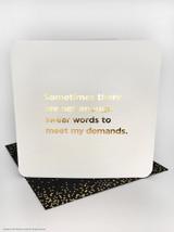 Swear Words (Gold Foiled) Birthday Card
