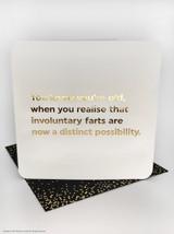 Involuntary Farts (Gold Foiled) Birthday Card