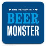 SALE - Beer Monster Coaster (Distressed Design)