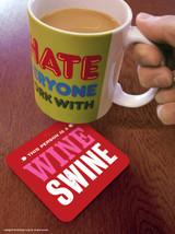 SALE - Wine Swine Coaster (Distressed Design)