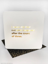 Count Of Three (Gold Foiled) Mother's Day Card