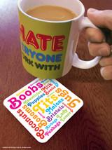 Boob Words Coaster