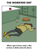 Working Day Lie Down Card