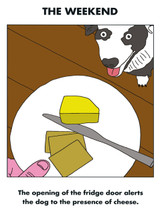 Weekend Dog Cheese Card